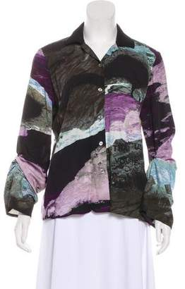 MM6 MAISON MARGIELA Abstract Print Button-Up Top
