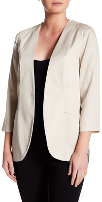 Harlowe & Graham Open Front 3/4 Sleeve Easy Blazer $44.97 thestylecure.com