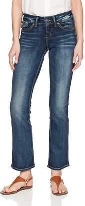 Silver Jeans Co. Women's Suki Curvy Fit Mid Rise Slim Bootcut Jeans