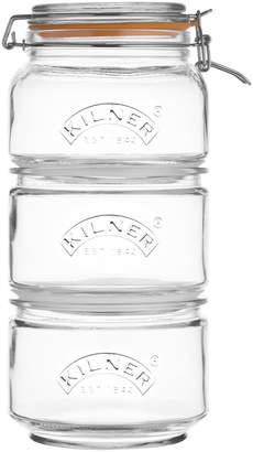 Kilner 3-Piece Glass Stackable Jar Set