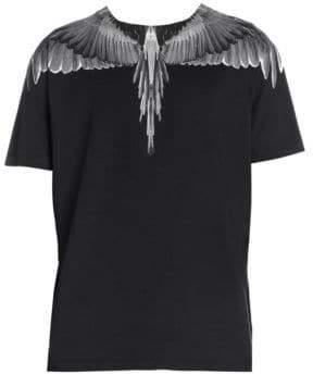 Marcelo Burlon County of Milan White Wing Print T-Shirt