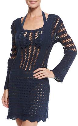 Letarte Bandana Crocheted Sundress Coverup $268 thestylecure.com