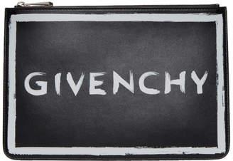 Givenchy Black Medium Graffiti Pouch