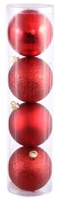 Vickerman Ball 4 Piece Drilled Ornament Set