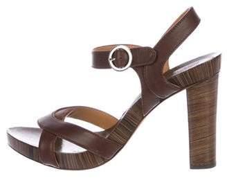 Salvatore Ferragamo Leather Ankle Strap Sandals