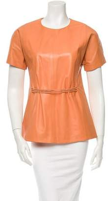 Tanya Taylor Leather Top