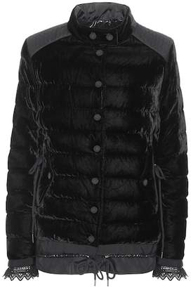 Moncler Beatrice velvet down coat