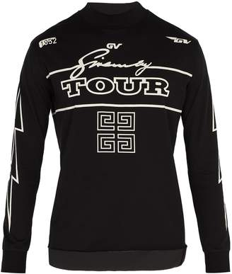 Givenchy Tour-print cotton long-sleeved T-shirt