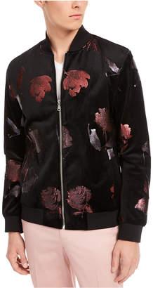 INC International Concepts Inc Men Foil Flower Bomber Jacket