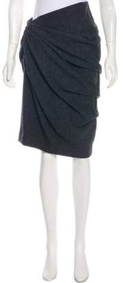 Lanvin Pleat-Accented Wool Skirt