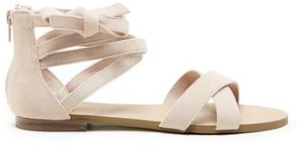 Sana Strappy Flat Sandal $79.95 thestylecure.com
