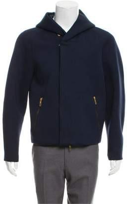 Giorgio Armani Zip-Up Woven Jacket