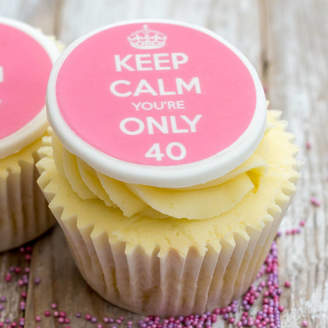 Just Bake Keep Calm Birthday Cupcake Decorations