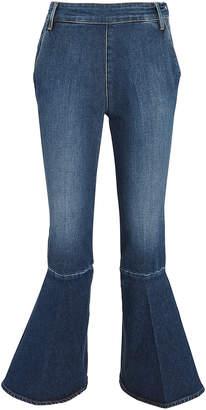 Frame Flounce Side Zip Jeans