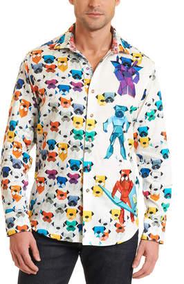 Robert Graham Robot Bulldogs Limited Edition Classic Fit Woven Shirt