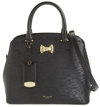 Ted Baker London Small Tealia Leather Satchel - Black $295 thestylecure.com