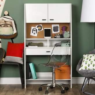 South Shore Reevo Armoire Desk with Hutch