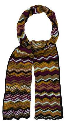 Missoni Wool-Blend Chevron Knit Scarf