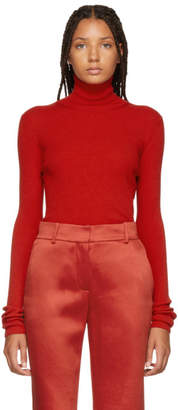 Nina Ricci Red Cut-Out Turtleneck