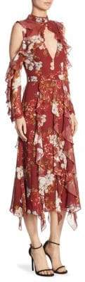 Nicholas Celeste Vertical Ruffle Maxi Dress