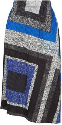 Pleats Please Pleated Printed Midi Skirt