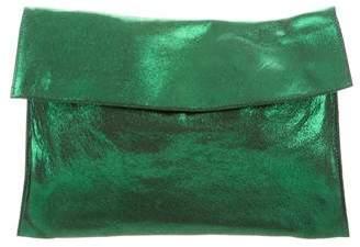 Marni Metallic Leather Clutch