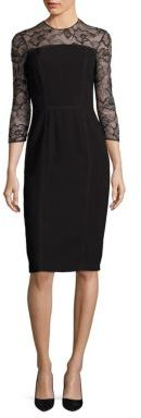 Carmen Marc Valvo Floral Lace Sheath $680 thestylecure.com