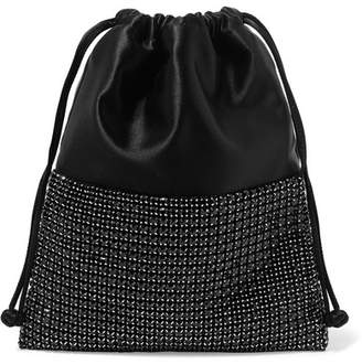 Alexander Wang Ryan Mini Crystal-embellished Satin Bucket Bag - Black