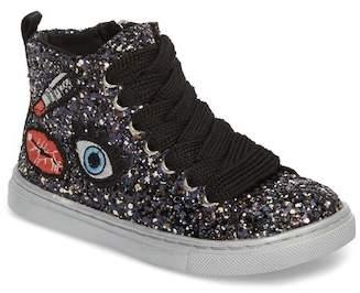Dolce Vita Zaine Glittery High Top Sneaker (Toddler, Little Kid & Big Kid)