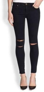 J BRAND Photo Ready Distressed Ankle Skinny Jeans/Blue Mercy