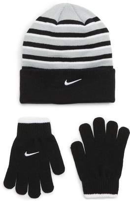 Nike Pom Beanie & Gloves Set