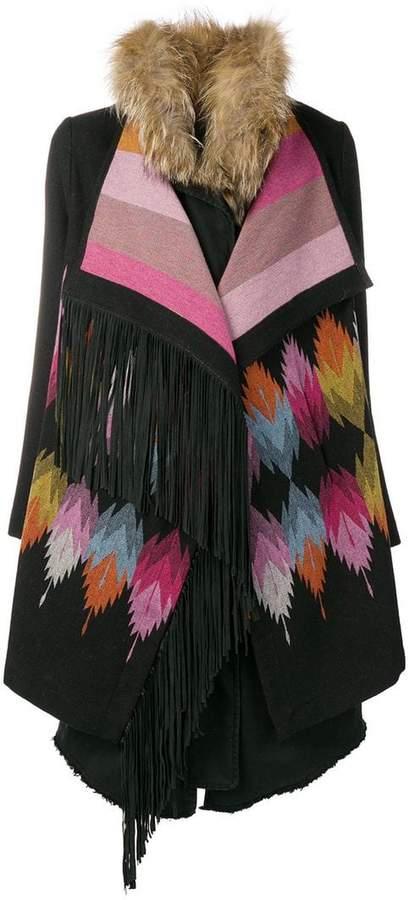 Bazar Deluxe aztec fur coat