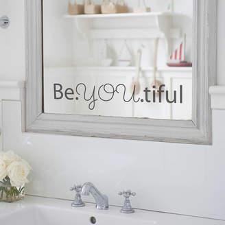 Nutmeg 'Beyoutiful' Mirror Sticker