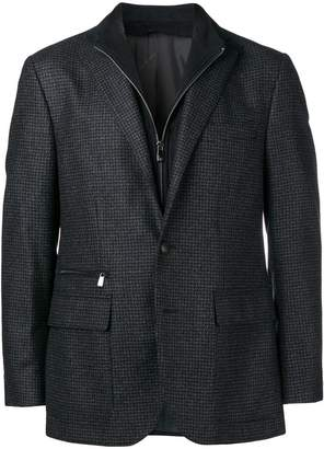 Corneliani zip-detail fitted blazer