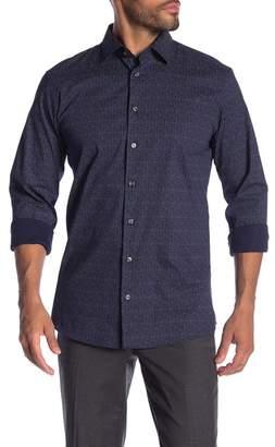 14th & Union Pin-Dot Trim Fit Shirt