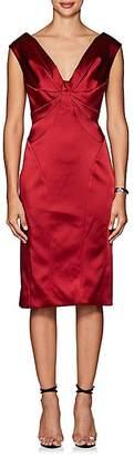 Zac Posen WOMEN'S SATIN OFF-THE-SHOULDER SHEATH DRESS