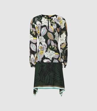 Reiss FLORAN FLORAL PRINTED DRESS Multi
