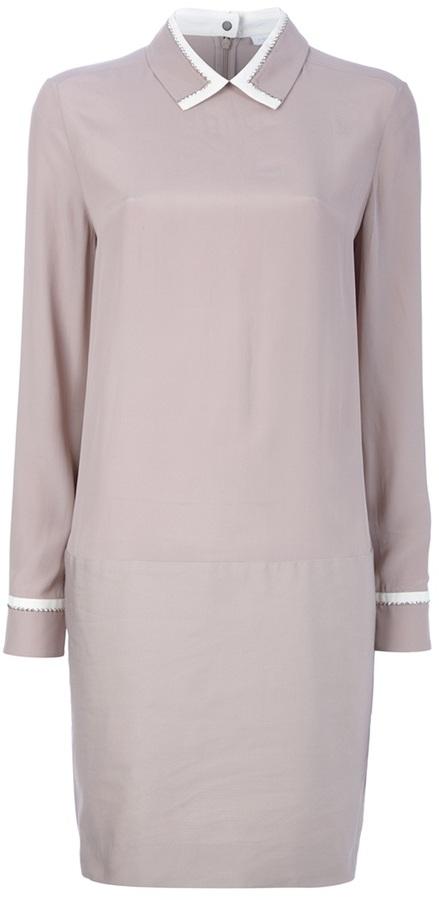 Victoria Victoria Beckham Pointed collar shirt dress