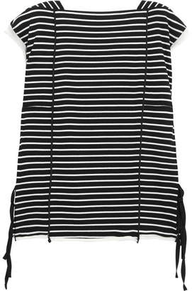 3.1 Phillip Lim Striped Cotton-jersey Top - Black