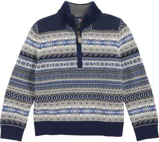 Vineyard Vines Fair Isle Half Zip Sweater
