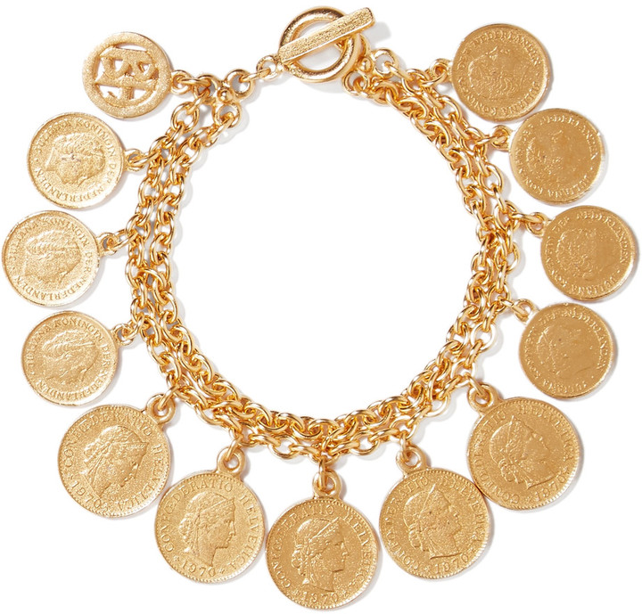 Ben-AmunBen-Amun Gold-tone charm bracelet