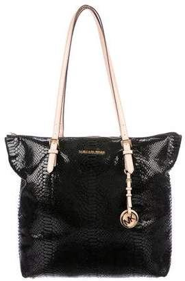 MICHAEL Michael Kors Embossed Leather Tote Bag