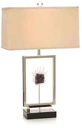 John-Richard Collection Crystal Window Table Lamp - Nickel