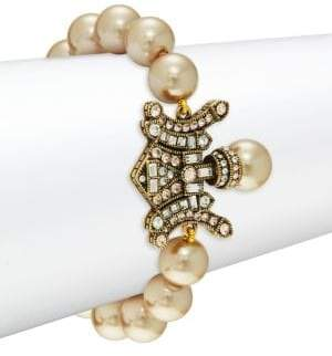 Heidi Daus Deco Faux Pearl Double Toggle Bracelet