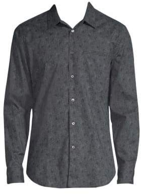 John Varvatos Garment Washed Abstract Floral Shirt