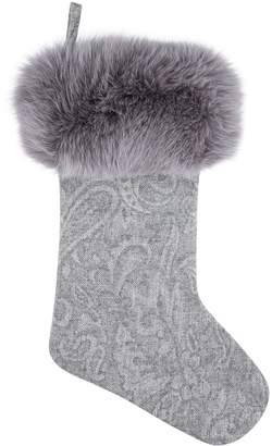 Harrods Racoon Fur Christmas Stocking
