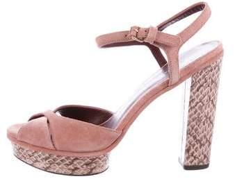 Marc Jacobs Embossed Platform Sandals