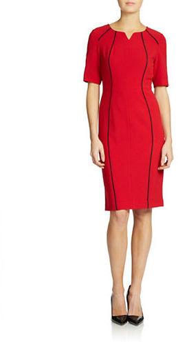 Anne KleinAnne Klein Contrast-Trim Dress