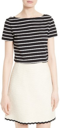 Women's Kate Spade New York Stripe Essential Tee $70 thestylecure.com