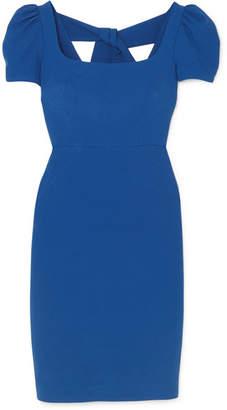 Rebecca Vallance Poppy Crepe Midi Dress - Blue